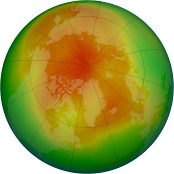 Arctic ozone map for 1994-04